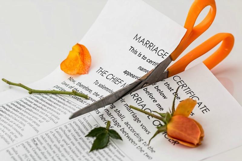 Cut marriage certificate